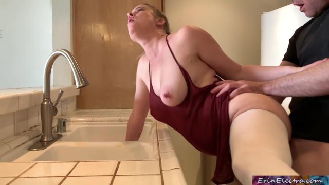 Eryn ashwin nude Stepmom stuck in the sink gets stepsons dick in her