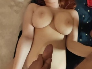 Cum on my Big Tits ! Amazing natural huge boobies