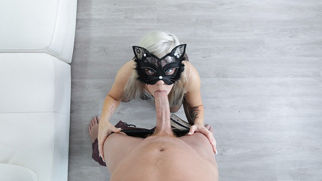 Adult cat mask - Tiny cat girl vs. huge cock