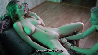 Angry stepBrother punishes sister with cum for masturbation without him