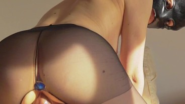 Homemade video of amateur italian wife riding a cock with buttplug in ass!