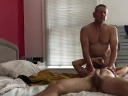 Mature Daddy Bear and Boy Sucking and Cumming (Chat at end)