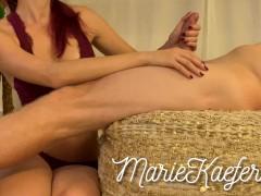 Marie Käfer - Sensual oily handjob ends in a beautiful ruined orgasm