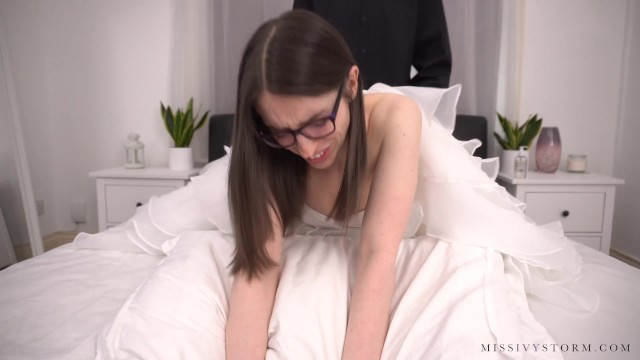 Sexy wedding night lingerie - Shy brides wedding night cuckold surprise preview
