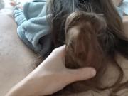 Первый раз дрочу волосами  Любимая ласкает мой член св�