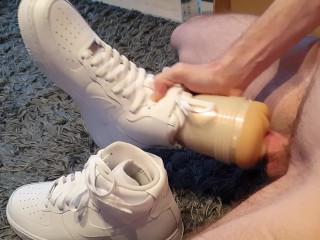 4 with and nike airforce 1 sneaker...
