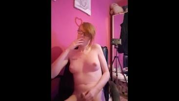 Irish trans girl edging for 18 minutes