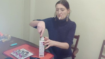 Inhale 15 Gypsy Dolores smoking fetish and unpacking sexy presents