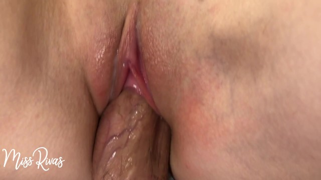 Tight and pink pussy - Close up tight pink oozing pussy during penetration
