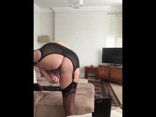 Annabel pussy, ass and glass toy play