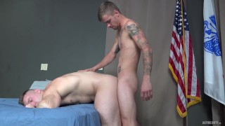 ActiveDuty - Tatted Army Muscle Hunks Raw Fuck
