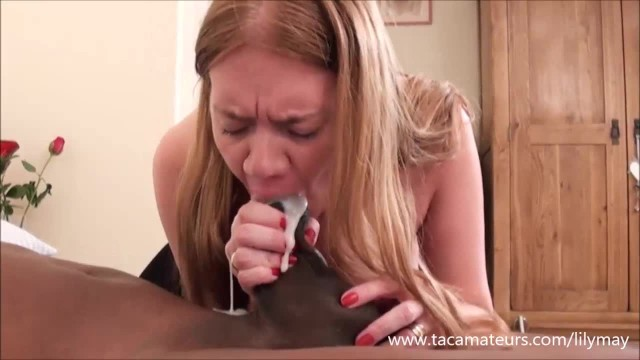 Cum swallowing cuckold Busty british milf lily may swallowing huge cum load