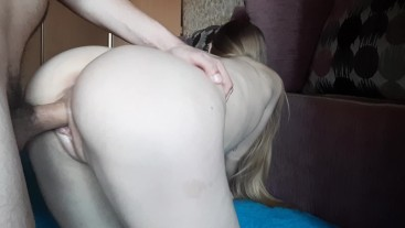 Young squishy pussy fuck and loud moans- amateur couple