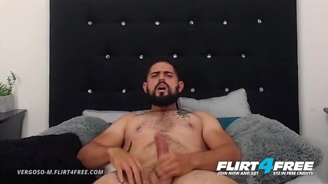 Free thumbs of big gay cocks - Vergoso m on flirt4free - bearded latino with big uncut cock blows his load