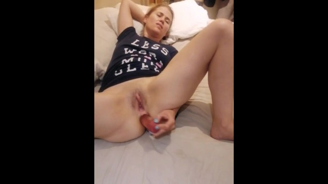 Girls showing naked pussy Anal dildo fun with my hot wife, milf elize showing her big naked pussy
