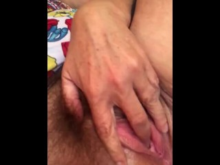 My cum is sticky! See me eat my own cum after I play with it!