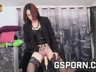 Anal porn machine sex fucking the ass of Sisley Haim