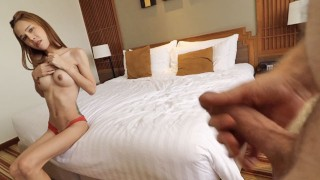 HELLOLADYBOY Petite Beauty Barely Fits Big Dick In Her Tight Ass