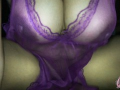 THAI WIFE RIDE A DICK .28 (Violet see through SEXY)