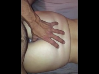 slut cums all over dick while getting pounded