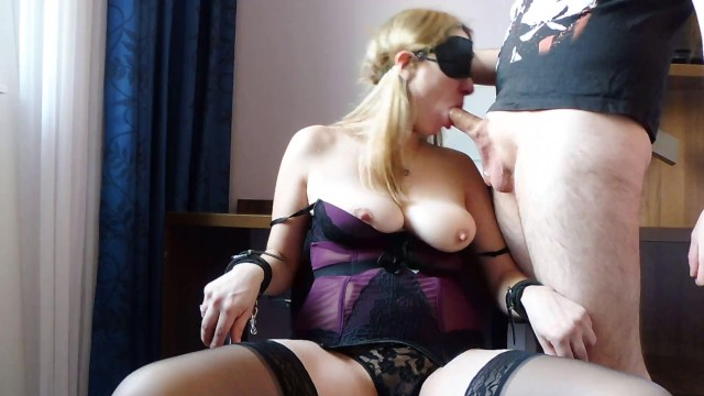 Lie politics sex - Blindfolded milf natural tits bound on chair sloppy deepthroat