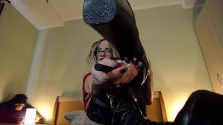 Jerk off for my boots, bitch!