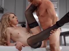 Transangels - Small tit Janelle Fennec cuffs hunk
