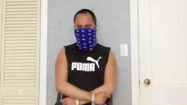 Selfgagged Tied to a Chair