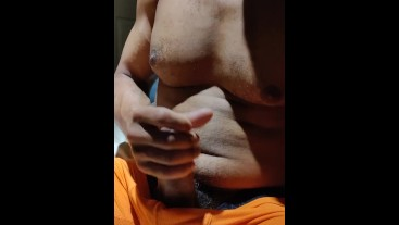 Wanking with Cum Load