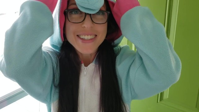 Backyard pee Nerdy faery pisses in her backyard dressed as a unicorn