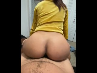 My girlfriend is the best making me cum with that Fat ass. I love it