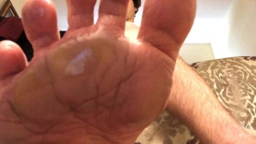 Man Smothers Sissy With Sweaty Foot Worship POV