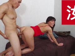 The Cute Black-haired Wants To Bang Her Asian Yoga Schoolteacher For A Long Time