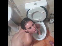 Young slut face piss and piss drink compilation