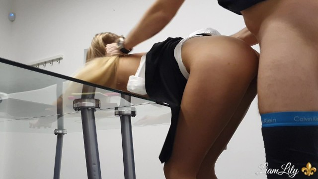 Office secritary sexy Young secretary fuck with boss in office part 2