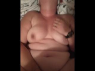 Wife rubs wet pussy