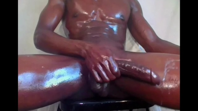 Oily ass porn dancing - I just like jacking my big black thick oily dick dirty talking 2 cumloads