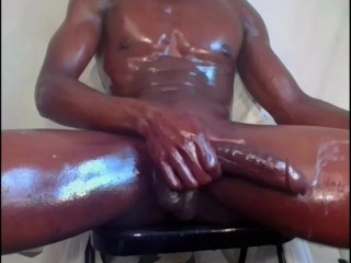 I just like jacking my big black thick oily dick dirty talking 2 cumloads!