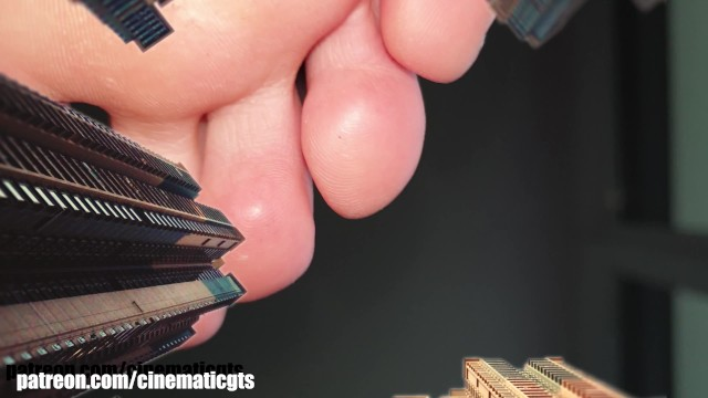 Oklahoma city asian Giantess alisa pov - city domination
