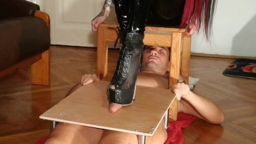 Domina cock stomping torture slave in stunning high heels pt1 HD