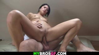 Horny brothers girlfriend begging for cheating sex