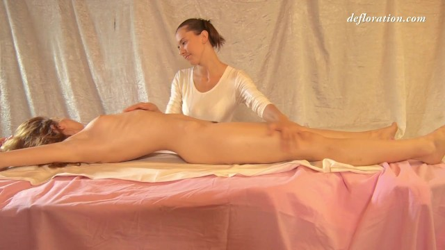 Porn tube oily massages free Fedorkino gore hot wet virgin massage