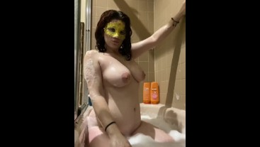 Clips of me playing with my pussy in the bathtub bubbles with a vibrator