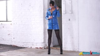 Mistress PVC Striptease and Humiliation JOI