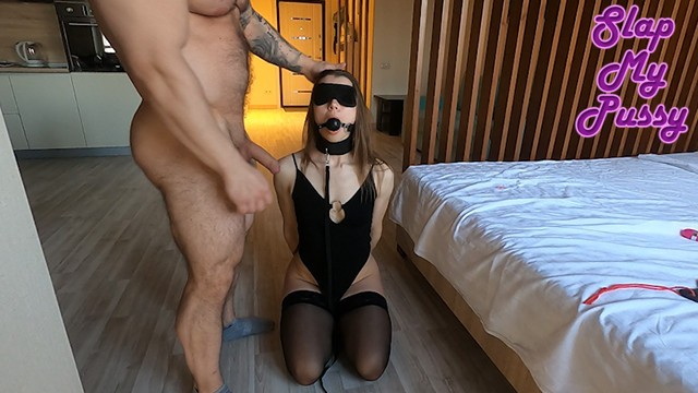 Spanked while fucking - Tortured sex slave while wife at work. bdsm, anal, spanking, facefuck