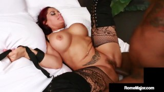 Crazy Whitie Jasmeen LeFleur Ties Up & Fucks BBC Rome Major!