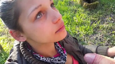 Teen romanian girl give me head for money in forest