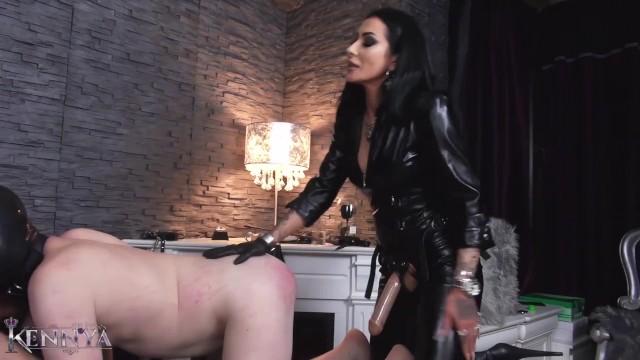 Bdsm roast Mistress kennya: slave buggered by strapon goddesses preview