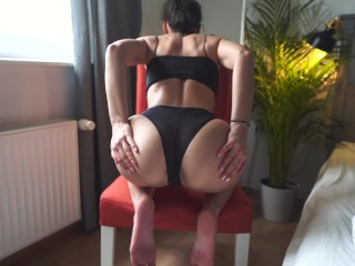 Rough chair for young with huge cum amateur...