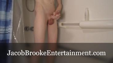 Twink Boy Shower Cum! Hot Boy Masturbation! Slow Motion Cumming!